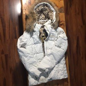 Bogner Ski Jacket white with beautiful details